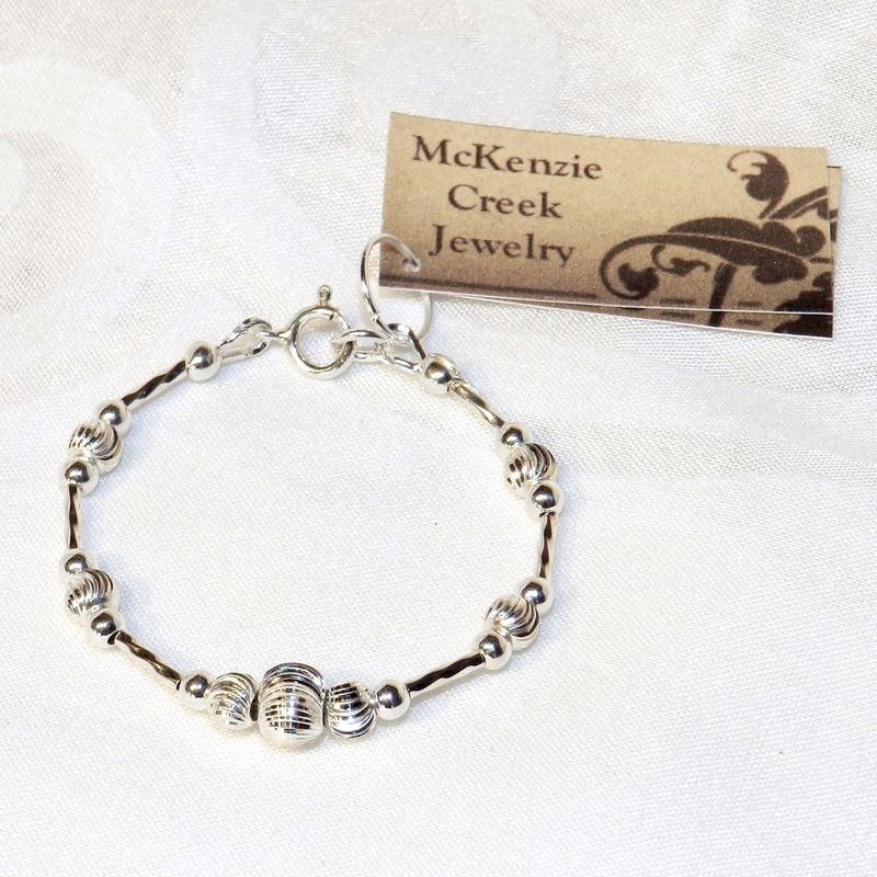 Sterling Silver Baby Bracelet Heirloom Gift One Of A Kind Mckenzie Creek Jewelry