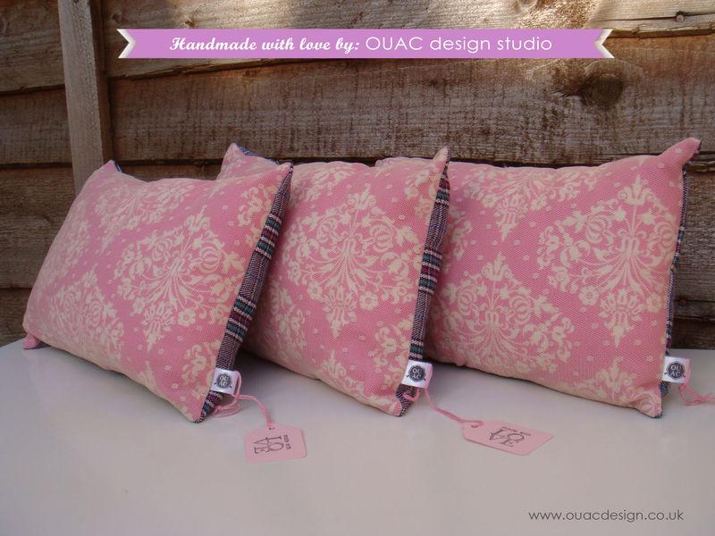 Luxury Amp Elegant Pink Dotty Lace Pillow Cushion Free Uk