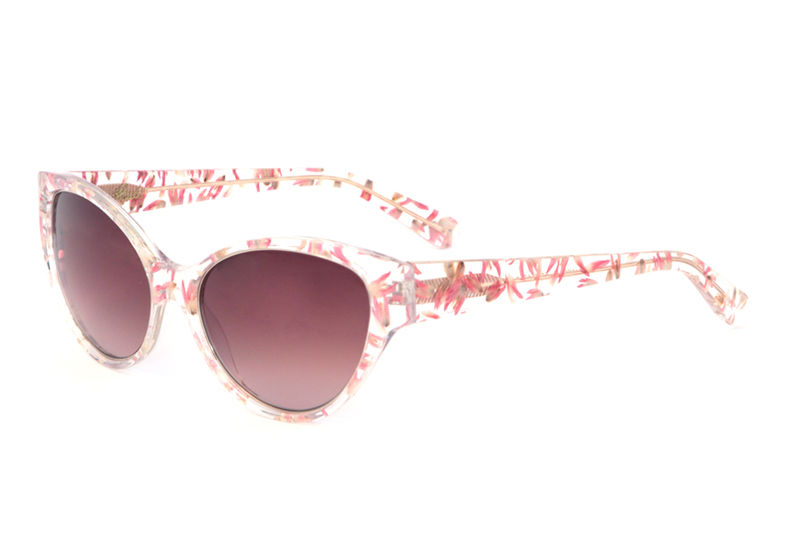 6104459904f5e Pink Floral Cat Eye Frame Sunglasses - product images of