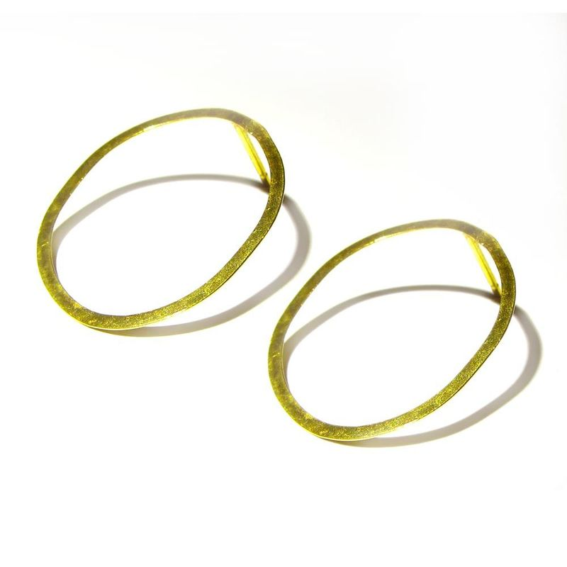 18ct Solid Yellow Gold Hoop Earrings By Catherine Marche