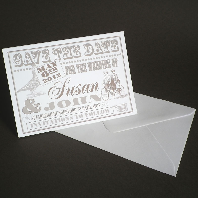 Personalised The Pigeon Post Stationery Co Save Date Card Product Images Of