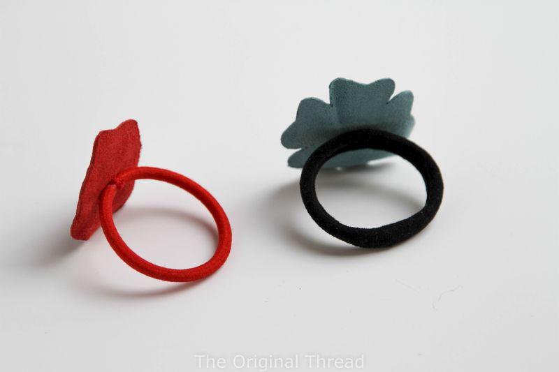 Handmade Leather Flower Hair Ties - The Original Thread b00ae9e7ed8