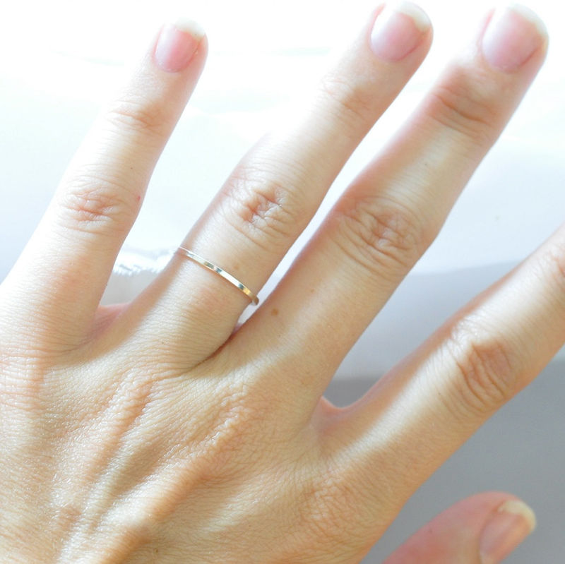 Simple Ring, Square Edged, 925 Sterling Silver Ring, Cool ...