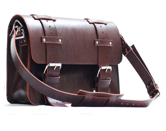 Leather Portmanteau Bag In Heavy Full Grain Limited