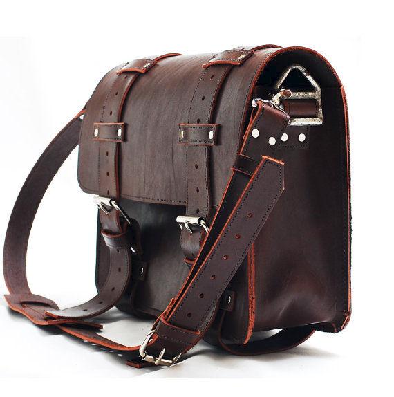 Leather Portmanteau Bag In Heavy Full Grain Limited