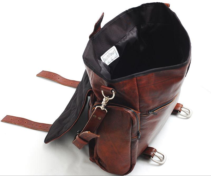 Handmade Leather messenger bag handmade 22 inch leather cross body ... aa69e5a72d54a