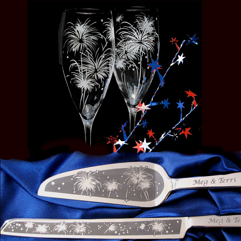 New Year S Eve Wedding Personalized Cake Server And