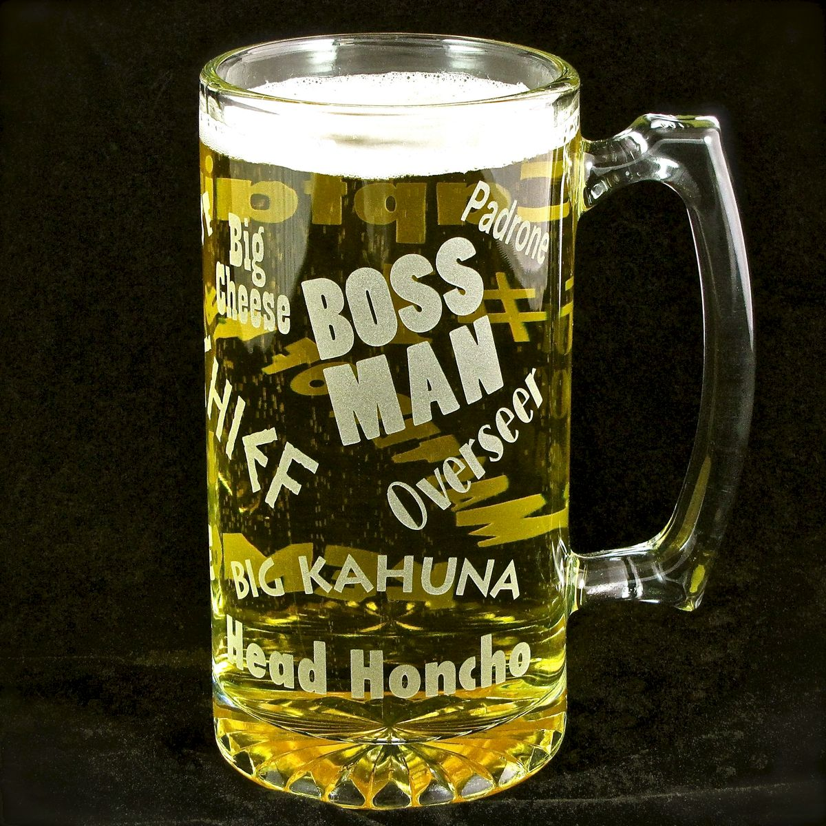 Wedding Gift For Boss: Boss Man Beer Stein, Gift For Man, Boss For Bosses Day