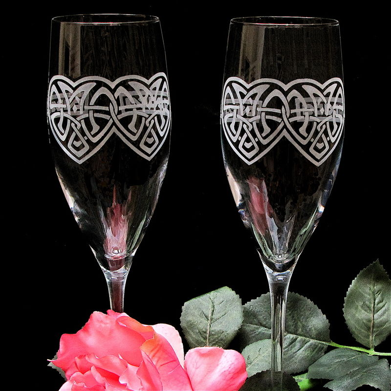 Celtic Wedding Cake Server And Champagne Flutes Celtic