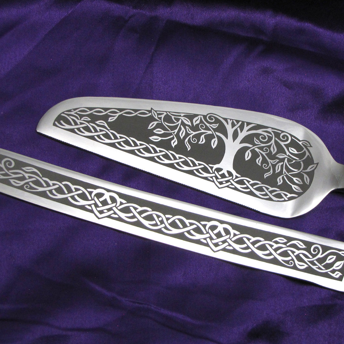 Personalized Celtic Tree Of Life Wedding Cake Server And