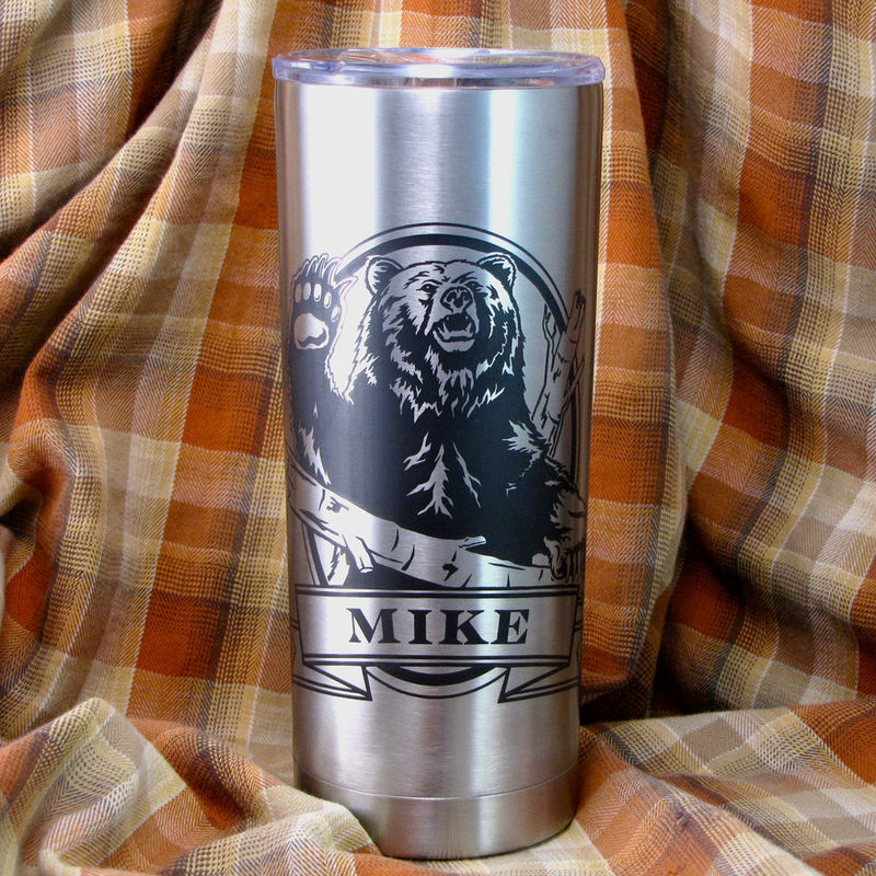 1 Personalized Insulated Cup Trout Fish Stainless Steel