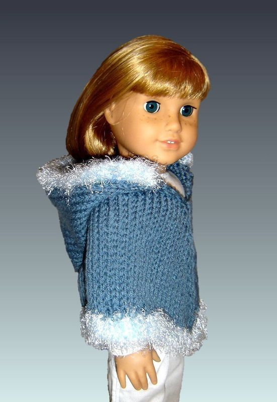 Doll Poncho Pattern Knitting Fits American Girl And 18