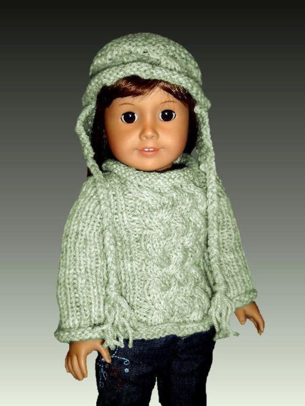 Fits American Girl Knitting Pattern Ag Doll Aran Sweater