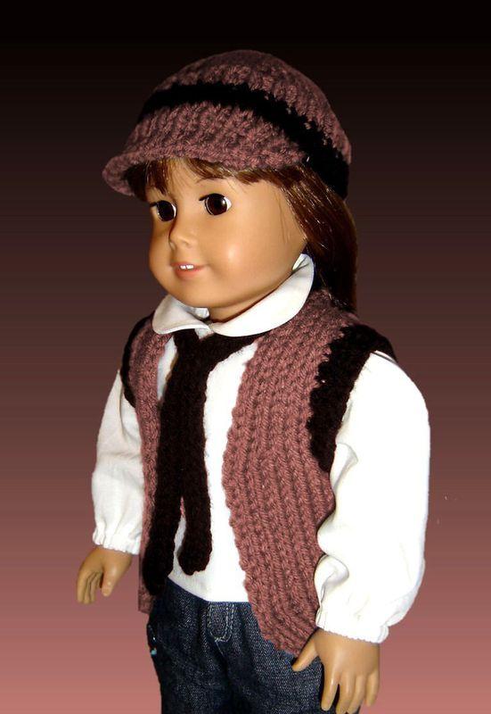 18 Inch Doll Knitting Pattern Fits American Girl Vest