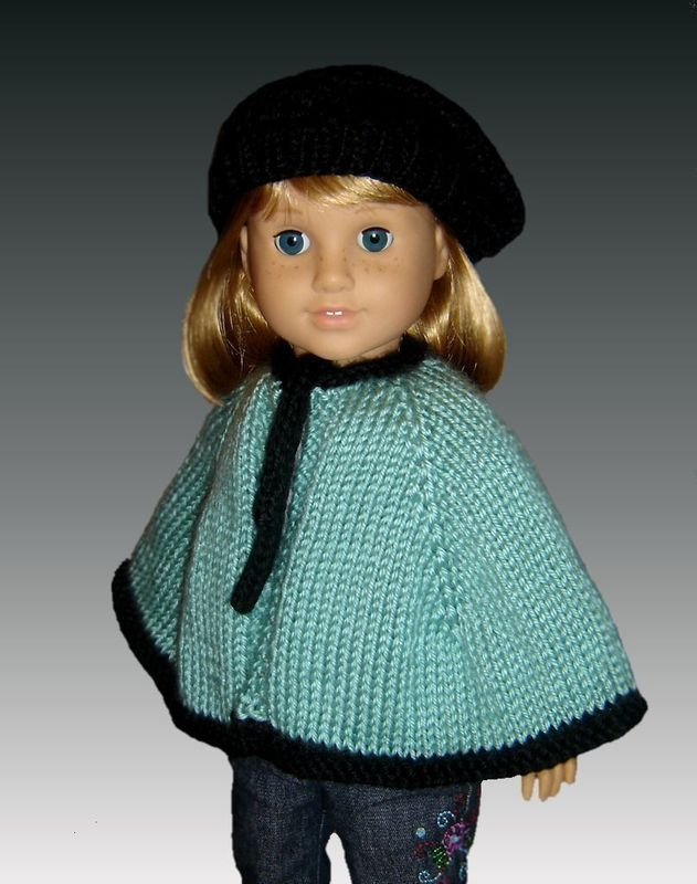 Knitting Pattern Cape And Beret Fits American Girl All