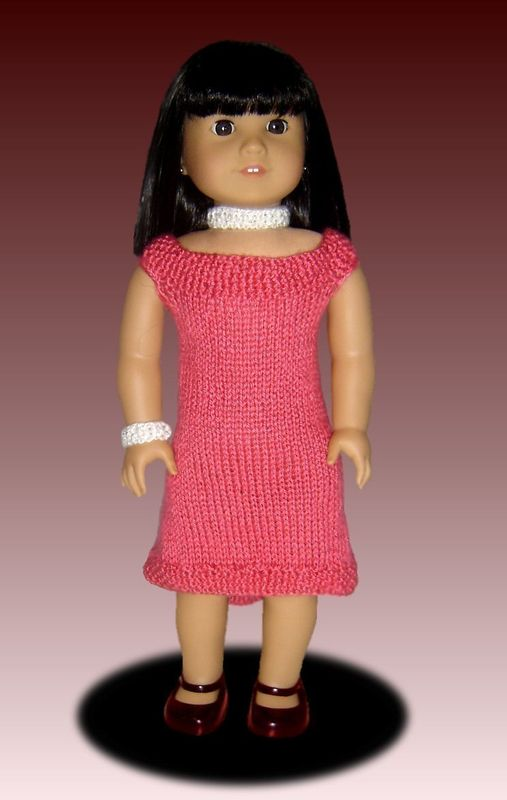 Fits American Girl Knitting Pattern Doll Clothes 18