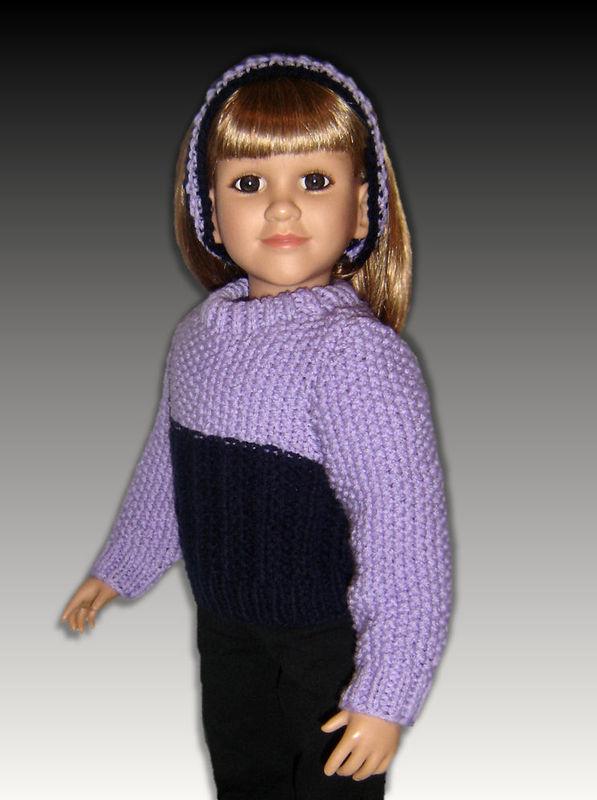 Pdf Knitting Pattern Fits 23 Inch Dolls My Twinn My Bff