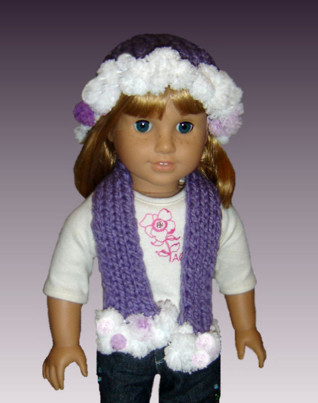Knitting Pattern Fits American Girl Doll 18 Inch Hat