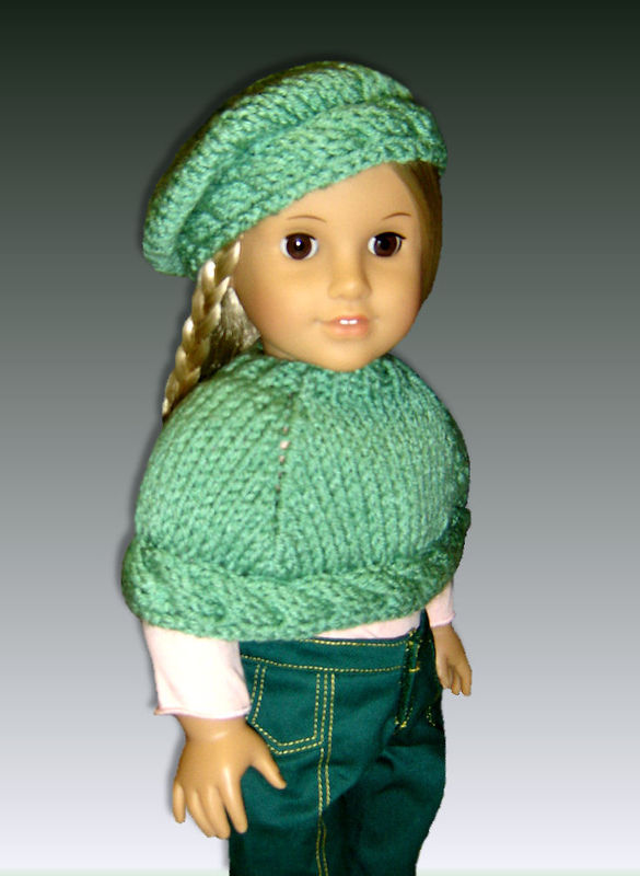 Knitting pattern for 18 inch Doll, (American Girl) Capelet ...