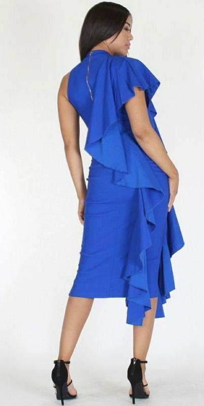 6866c88466f21 The Posh Ruffle Dress - Jess MIA Collections