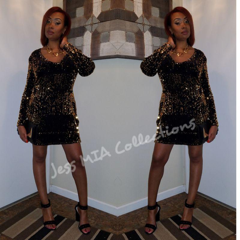 afeae15ce058a The Golden Sparkle Dress - Jess MIA Collections