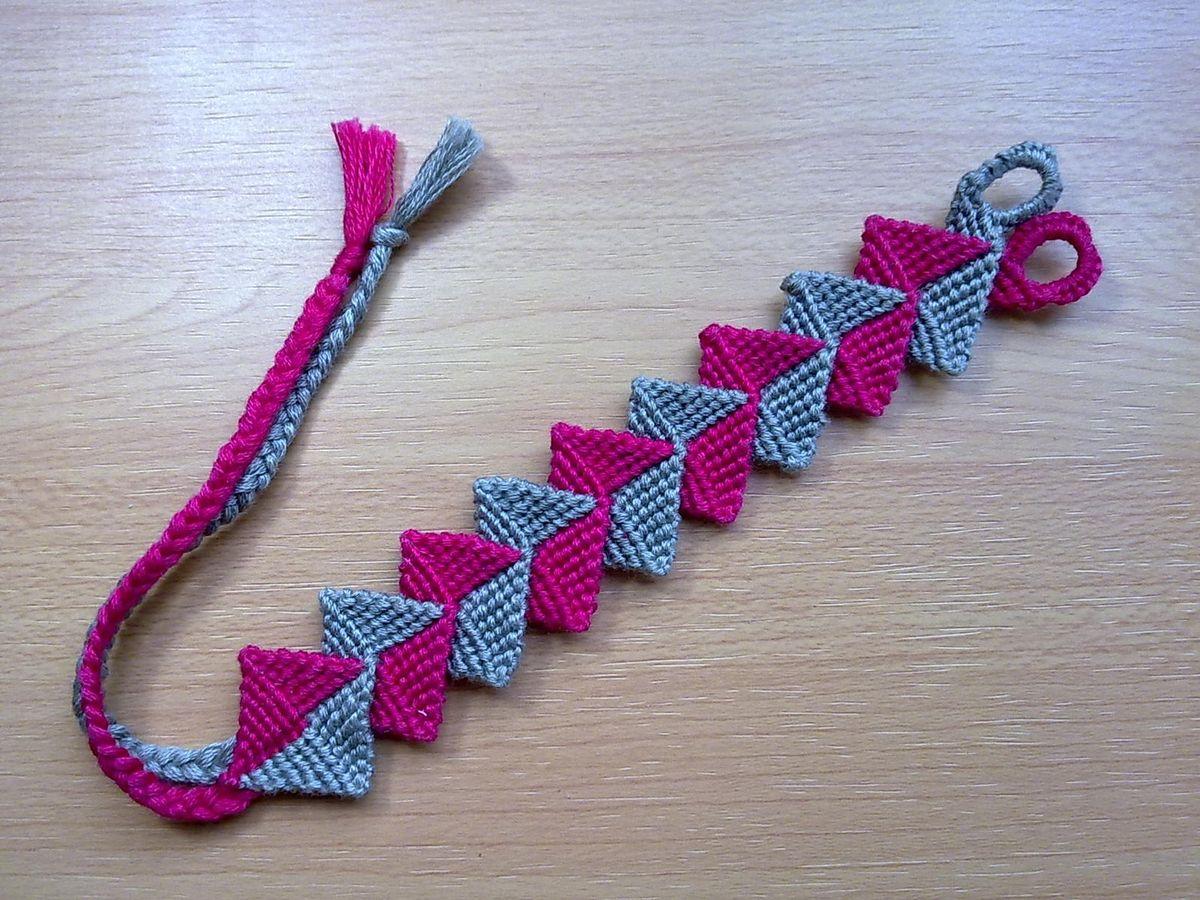 Friendship Bracelet, Intertwined Zig-Zag, Macrame Bracelet ...