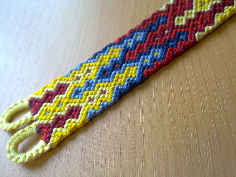 Friendship Bracelet Primary Colors Macrame With Clasp Made To Order