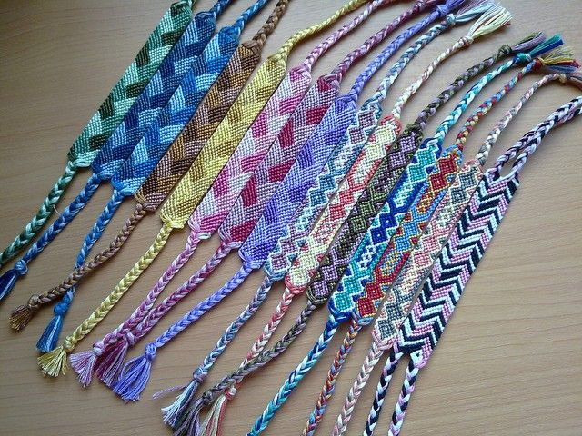 Friendship Bracelet Tiny Diamonds Macrame Made To Order Product Images