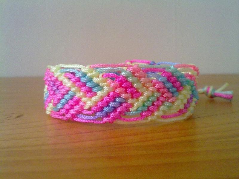 Rainbow Leaves Friendship Bracelet Micro Macrame Ready