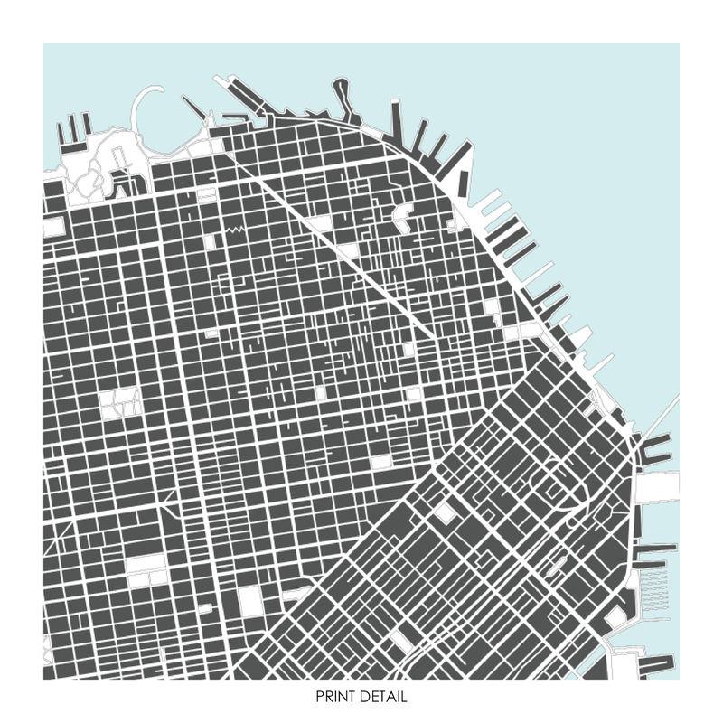 San Francisco Map Art Print Limited Edition Prints
