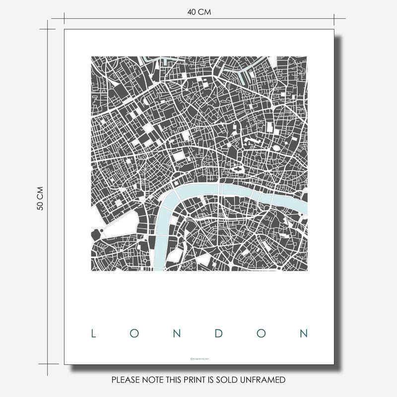 London Map Art Print Limited Edition Prints Bronagh Kennedy Art