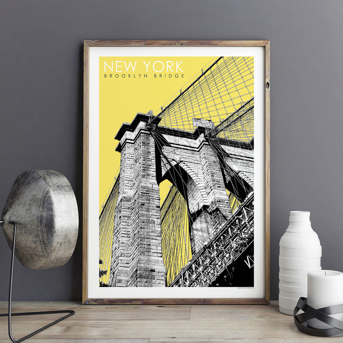 new york prints brooklyn bridge travel poster bronagh kennedy art prints. Black Bedroom Furniture Sets. Home Design Ideas