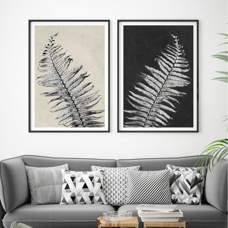 Black And White Prints Set Of 2