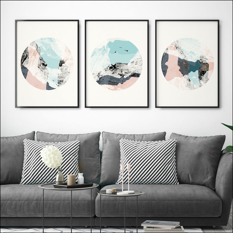Ink Abstract Framed Art Calming Wall Art Abstract Art Prints