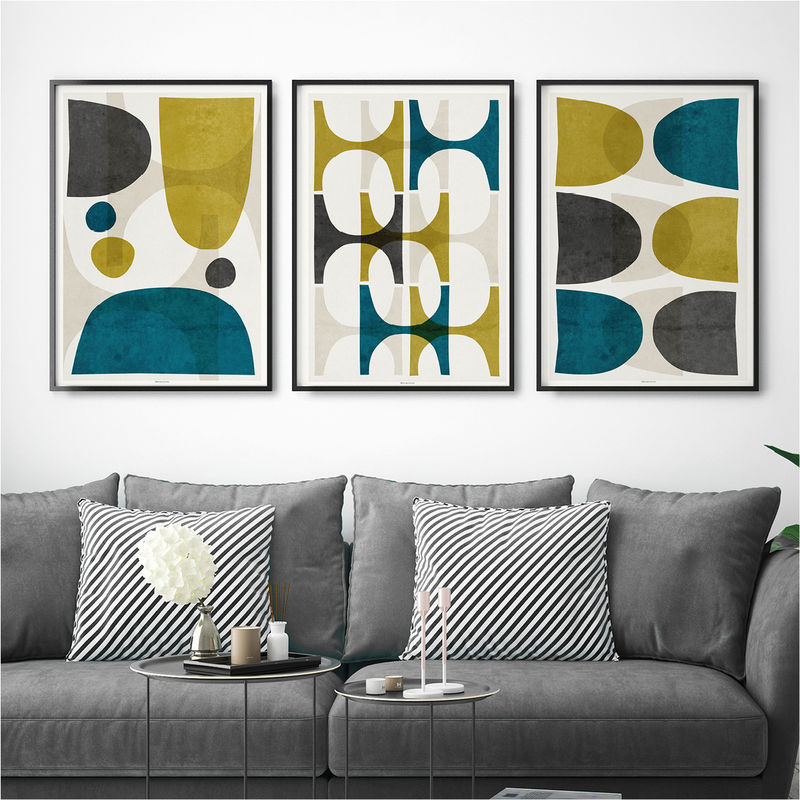 Set Of 3 Abstract Fine Art Prints Colourful Abstract Prints Living Room Print Large Wall Art Print Bronagh Kennedy Art Prints