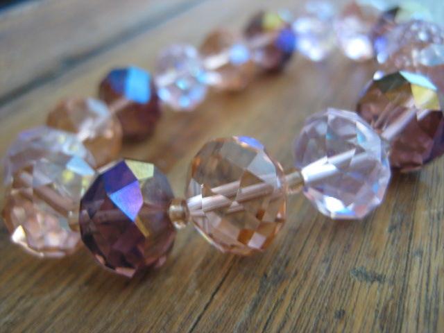 Chunky Pink Crystal Stretch Bracelet