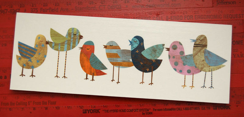 1 Art Block 6 X 18 S Nursery Ready To Hang Print On Wooden Gift For Mom Mother Bird John W Golden