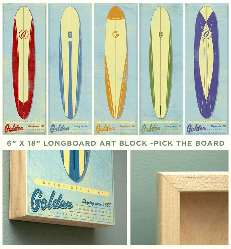 Surf Art Longboard Wall Art Box Pick The Board 6 Quot X 18