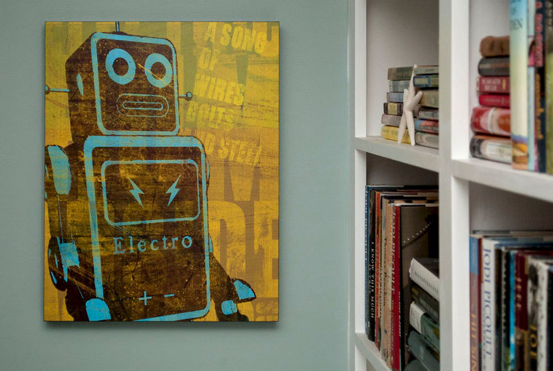 Retro Robot Art Print Box Song Of Wires Sci Fi Wall Art