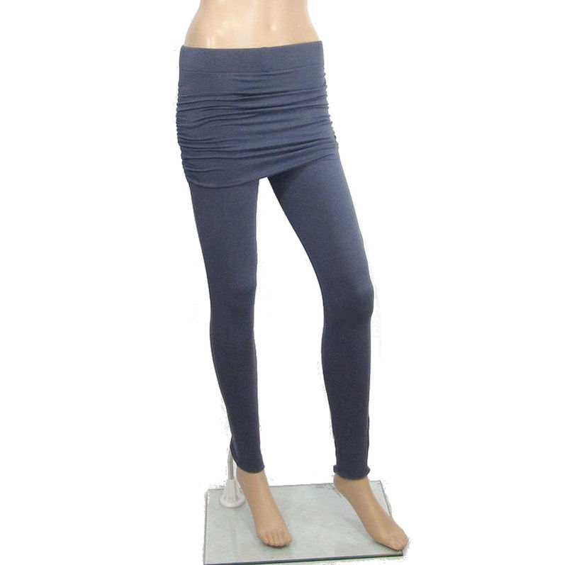 f92d9d292ed0a3 The Kobieta Skirted Leggings - Ready to Ship - Size XS/Small (TALL or  custom inseam) in Smoke Grey Organic Cotton/Bamboo Jersey