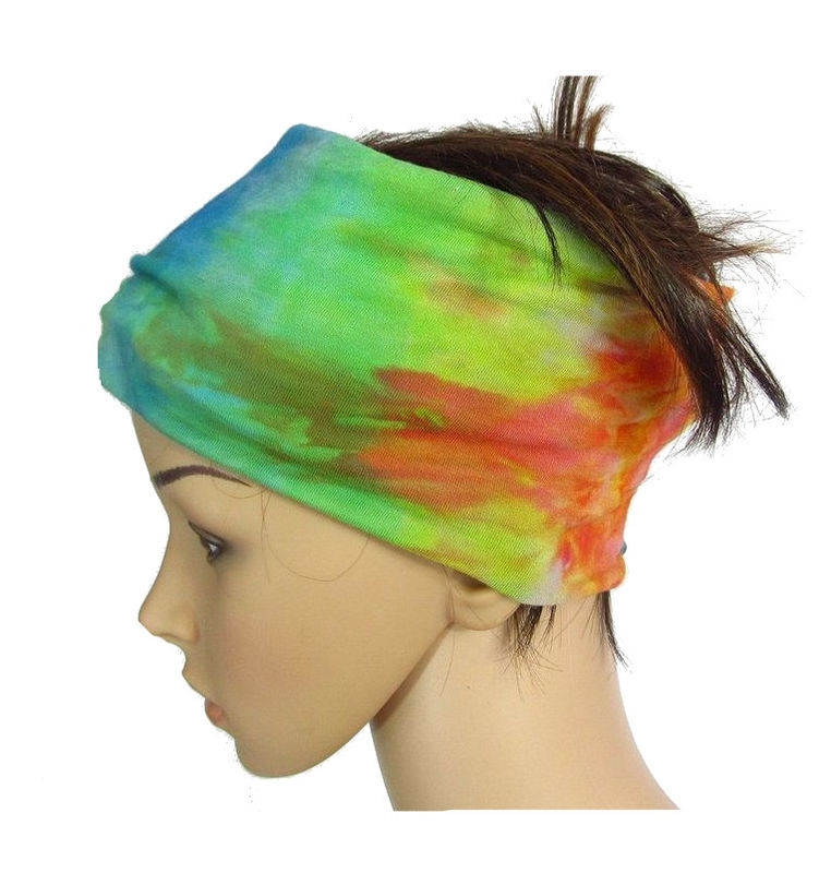 61aa481385ef81 Solid Color or Hand Dyed Tie Dye Bamboo Jersey Yoga Head Wraps/Bands ...