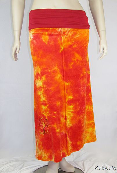 Womens Maxi Skirt In Obv Organic Bamboo Velour Rise Of