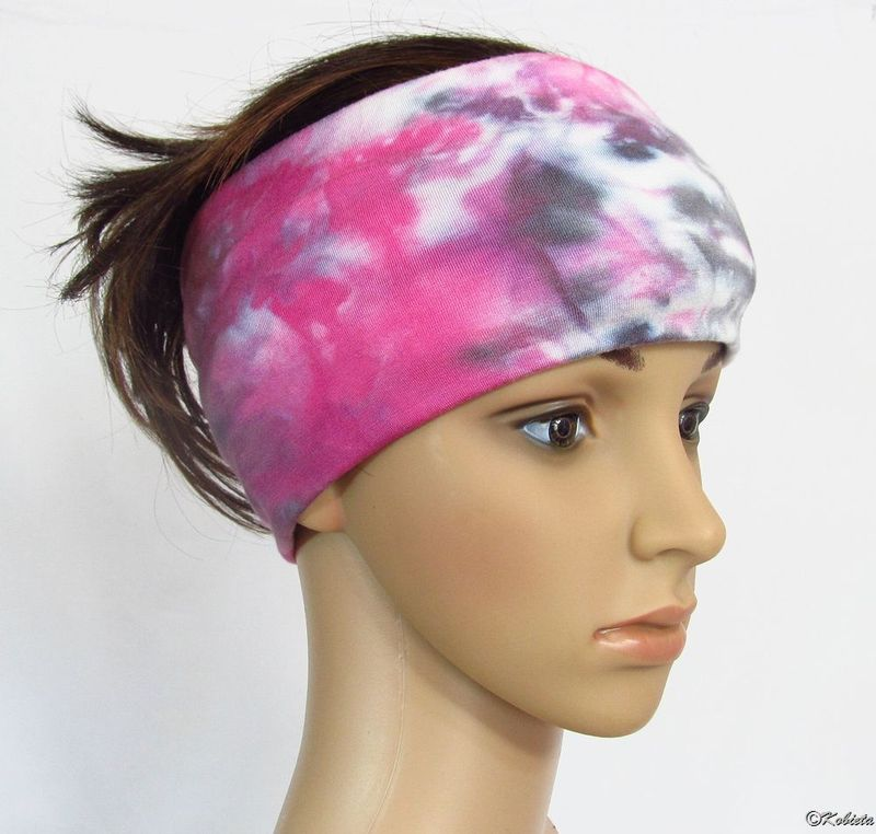 7dfd6ec697fa17 Solid Color or Hand Dyed Tie Dye Bamboo Jersey Yoga Head Wraps/Bands -  Kobieta Clothing Company