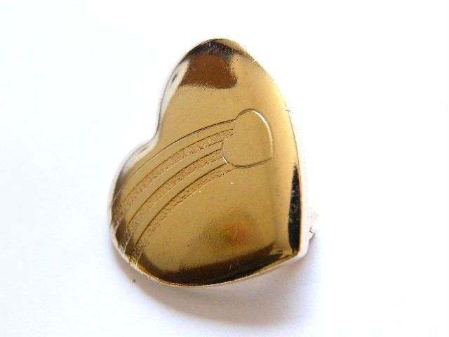 Collector Item Gold Tone Variety Club Heart Brooch Signed