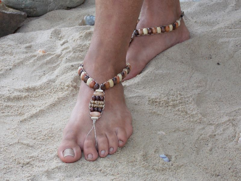58fc483dc2245 ... Men s Barefoot Sandals - Brown Wooden Beads - product images ...