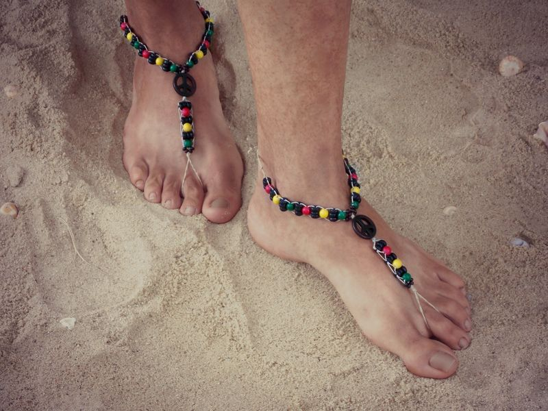 a96e36fdd8946 Rasta Barefoot Sandals for Men - MoJo s Free Spirit