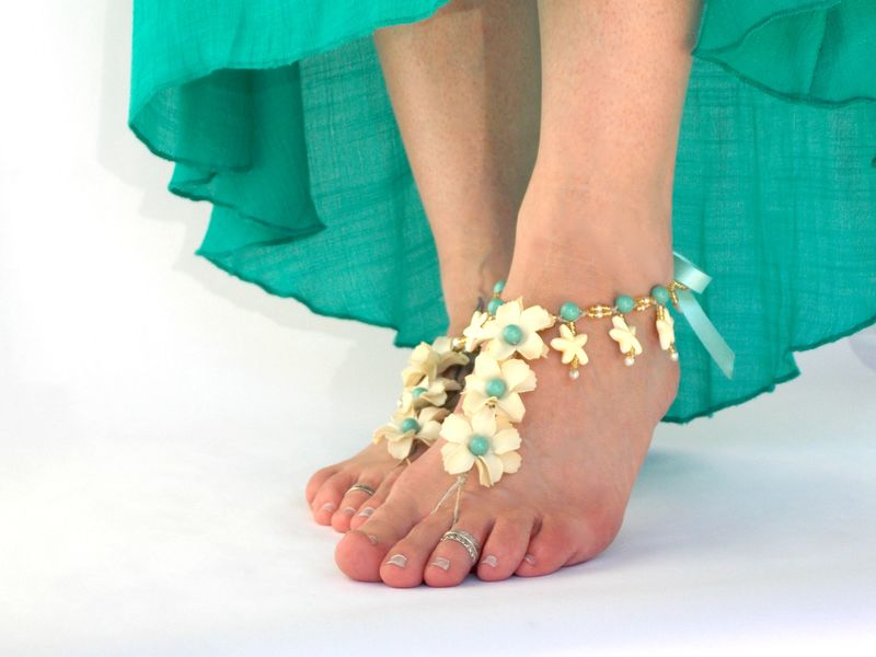 6d0691a5b136 ... Tropical Starfish beach wedding Barefoot Sandals - Color Options -  product images of ...