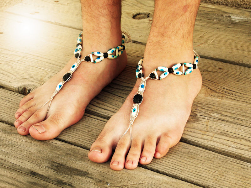 a640980f27bd7 Evil Eye Barefoot Sandals in Blue - product images of ...