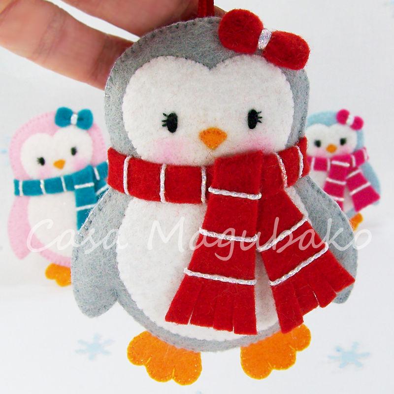 Felt Penguin Digital Pattern Pdf File Diy Ornament Or Embellishment
