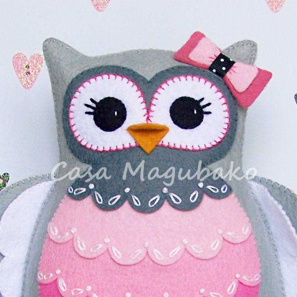 owl templates for sewing - felt owl pincushion digital pattern pdf file owl soft
